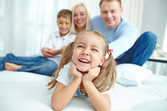 Cheerful offspring Royalty Free Stock Photos