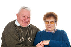 Cheerful old couple Royalty Free Stock Photo