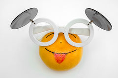 Cheerful orange. Glasses with double glazing Stock Image