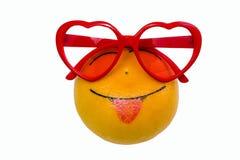 Cheerful orange pink glasses Stock Images