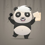 Cheerful panda sings songs and dances Royalty Free Stock Photography