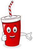 Cheerful Paper Soda Drink Character Royalty Free Stock Photos