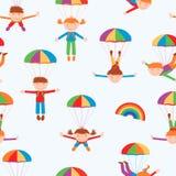 Cheerful parachutists Royalty Free Stock Photography