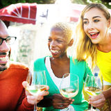 Cheerful Party Friends Friendship Cafe Hanging Out Concept Royalty Free Stock Photo