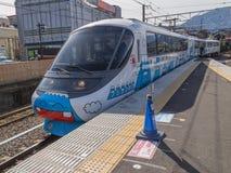 Cheerful passenger train Royalty Free Stock Photo