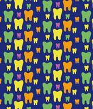 Cheerful pattern of multi-colored teeth . Beautiful texture stock illustration