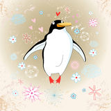 Cheerful penguin lover Royalty Free Stock Image