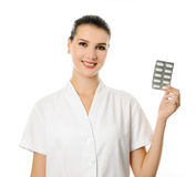 Cheerful pharmacist Stock Image