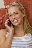 Cheerful Phonecall Stock Image