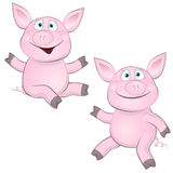 Cheerful pig Royalty Free Stock Image