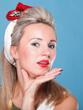 Cheerful pin up girl - retro style portrait Stock Image