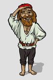 Cheerful pirate royalty free illustration
