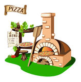 Cheerful pizzeria Royalty Free Stock Image