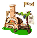 Cheerful pizzeria Royalty Free Stock Photos