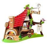 Cheerful pizzeria Royalty Free Stock Images