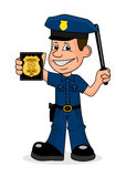 Cheerful police officer. On the image presented Cheerful police officer Royalty Free Stock Photo