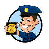 Cheerful police officer. On the image presented Cheerful police officer Royalty Free Stock Photography