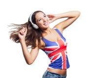Cheerful pop girl dancing Stock Photo