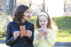 Cheerful and positive mother with the daughter Royalty Free Stock Image