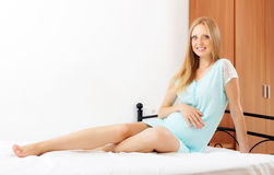 Cheerful pregnant woman Royalty Free Stock Photography