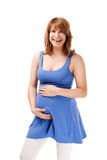 Cheerful pregnant woman Stock Photography