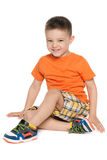 Cheerful preschool boy Stock Images