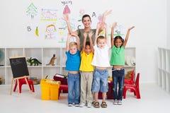 Cheerful preschool class Stock Images