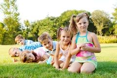 Cheerful preschoolers Royalty Free Stock Photos