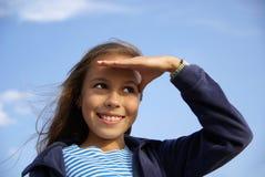 Cheerful preteen girl Royalty Free Stock Photos