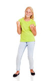 Cheerful preteen girl Stock Image