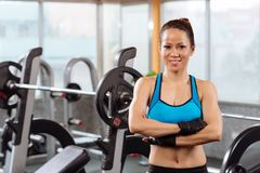 Cheerful professional sportswoman Stock Images