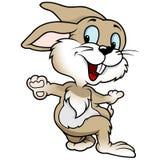 Cheerful Rabbit. Cute Cartoon Illustration, Vector stock illustration