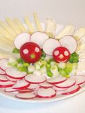 Cheerful radish mice Royalty Free Stock Photography