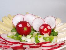 Cheerful radish mice Royalty Free Stock Photos