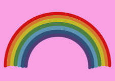 Cheerful rainbow Stock Images