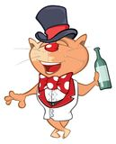 Illustration of a Cute Cat. Cartoon Character Stock Photography