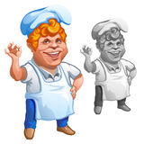 Cheerful red-haired chef gesturing OK sign Royalty Free Stock Photo