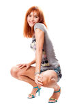 Cheerful red-haired girl Stock Image