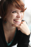 Cheerful red-haired girl Royalty Free Stock Photography