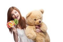 Funny festive girl Stock Images