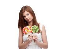Funny festive girl Stock Image