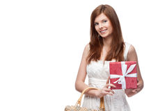 Funny festive girl Royalty Free Stock Photography