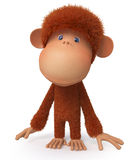 Cheerful, red monkey Stock Image