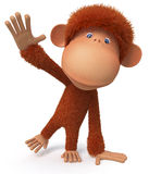 Cheerful, red monkey Stock Photography