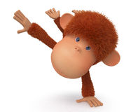 Cheerful, red monkey Stock Images