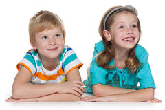 Cheerful redhead children together Royalty Free Stock Photo