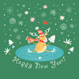 Cheerful reindeer Stock Photo