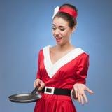 Cheerful retro housewife Stock Image