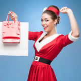 Cheerful retro housewife Royalty Free Stock Photography