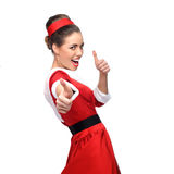Cheerful retro woman Stock Images